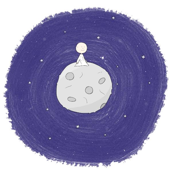 Kosmo vom Mond besucht die Erde - Blick auf die Erde - andreschuetz.com